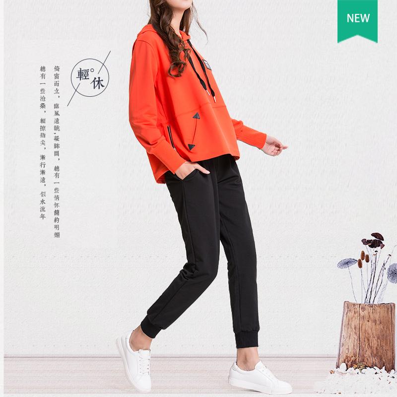 运动套装女春款运动服两件套2017新款韩版时尚休闲宽松卫衣大码潮