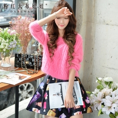 Sweater girls big pink doll 2015 autumn Korean blouses loose thin sweater coat women