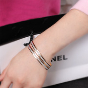 Scrubs cool na Korean fashion double ring rose gold bracelets women's bracelets Jewelry Gifts 5063