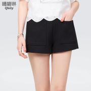 Linda 2015 spring green and sunny new Womenswear Korean casual pants slim slimming high waist Joker Pocket shorts