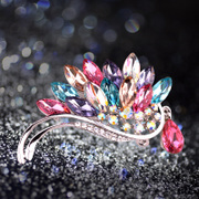 Haomei Swarovski Crystal brooch women''s dual-use luxury shawls scarves women chest flowers Crystal jewelry
