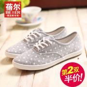 Becky low canvas shoes asakuchi flat-bottomed Department College of students shoes casual shoes new sweet autumn wind
