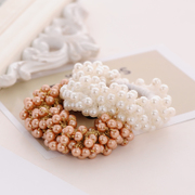 Know Connie hair Korea new Pearl String white Korean Phu rubber band hair hair jewelry