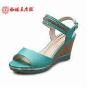Spider King women's shoes fashion casual wedges shoes, Candy-colored fish in Rome spring/summer shoes Diamante sandals