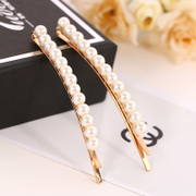 Know Connie hair accessories Korean version of the simple side of Pearl clip Clip Korea temperament rhinestone hair clip bangs Chuck accessories
