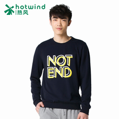 Hot air men's spring men's crew neck cotton t-shirt printing letters casual Turtleneck Sweater 20W5104