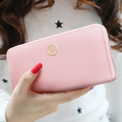Hee zip around wallet purse cross pattern in Europe and America MICIE/beauty killer package bulk leather cowhide wallet