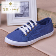 Puqi 2015 new Korean low canvas shoes girl shoes leisure shoes flat shoes lace shoes