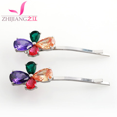 Jiang bang clip of Korea hair accessories alloy clamp pavé rhinestones Korea before a clip hairpin clip jewelry