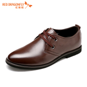 Red Dragonfly autumn new genuine leather men's shoes casual business comfort strap soft face fashion men's shoes