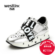 West fall 2015 new round casual shoes Velcro cake increased thick-soled Sneakers Shoes SZ
