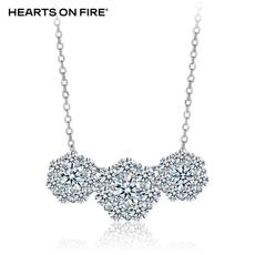 「HOF」Hearts On Fire 新品白色18K金30分钻石项链/吊坠UU 468
