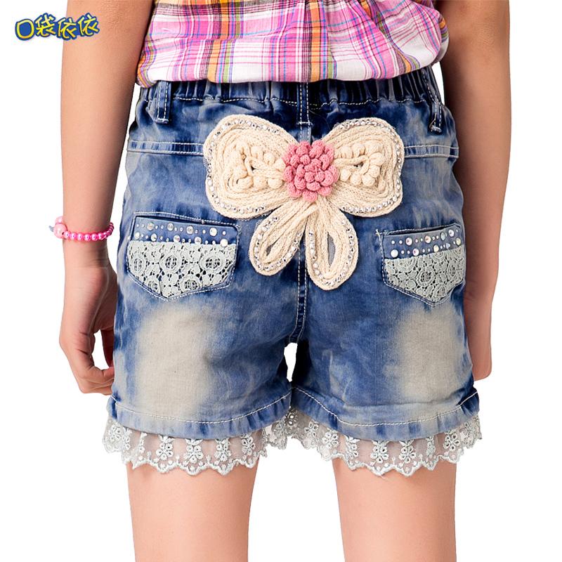 儿童裤子夏季女孩沙滩裤薄款女大童热裤新款童装童裤女童牛仔短裤