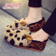 Winter rabbit fur and velvet bean shoes yalaiya shoes flat-bottom warm rabbit driving shoes shoes women shoes leisure shoes