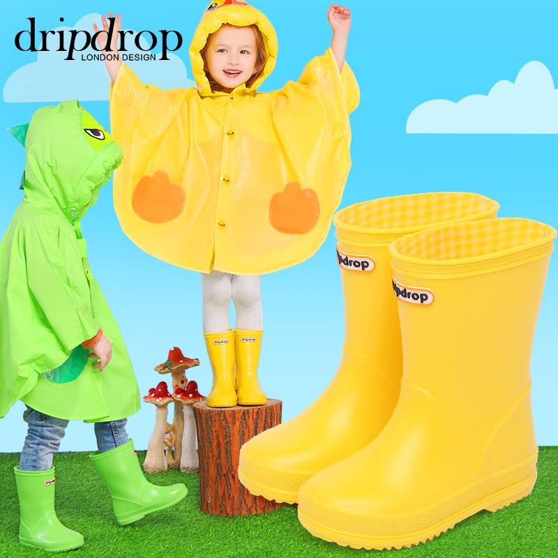 儿童雨鞋纯色日系可爱男童女童宝宝胶鞋磨砂雨靴时尚防滑水鞋秋冬
