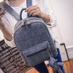 Beauty about fall/winter backpack 2015 new Korean wave Plaid backpack school bag bags women bags leisure bags