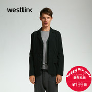 Westlink/West 2015 winter new small patch pockets three-button lapel suits casual men's jacket