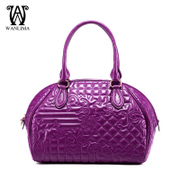 Wan Lima European fashion shells with the bag top grade leather flowers bag counters authentic ladies bag