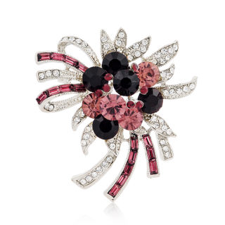 Love mail fashion jewelry rhinestone brooch beautiful female Korean brooch Korean vintage brooch scarf buckle