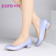 New commuter Zhuo Shini spring round-headed female comfort chunky heels pumps shoes women shoes 143152520