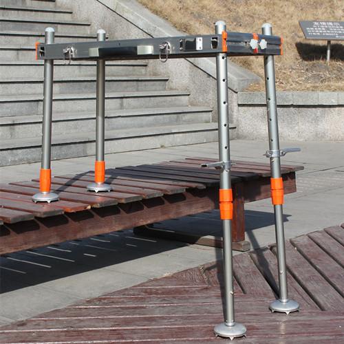 凯木新款水陆两用小钓台铝合金升降钓凳全地形加粗腿钓鱼椅包邮