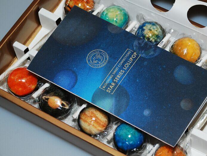 美国BloomingSweet星球星空棒棒糖网红进口糖果零食10支礼盒装
