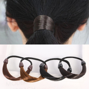 Know Richie practical wig hair hair hair ring ropes made by Korean hair band hair band hair braids