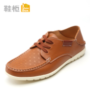 Shoebox/shoe 2015 new style men's shoes low cut lace round mesh shoes of England 1115111117