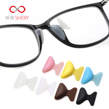 5 pairs of plate glasses nose support silica gel non slip nose pad sun eye frame drag accessories sunglasses nose bridge nose stick