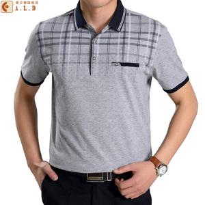 爸爸夏装40-50岁中老年人男装polo衫棉父亲节夏季中年男士短袖t恤