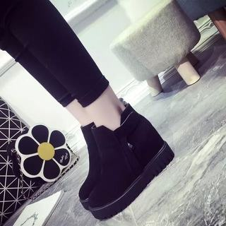 Wedges platform increased within a short female autumn 2015 new wave platform shoes and winter boots high heel boots naked Korean version