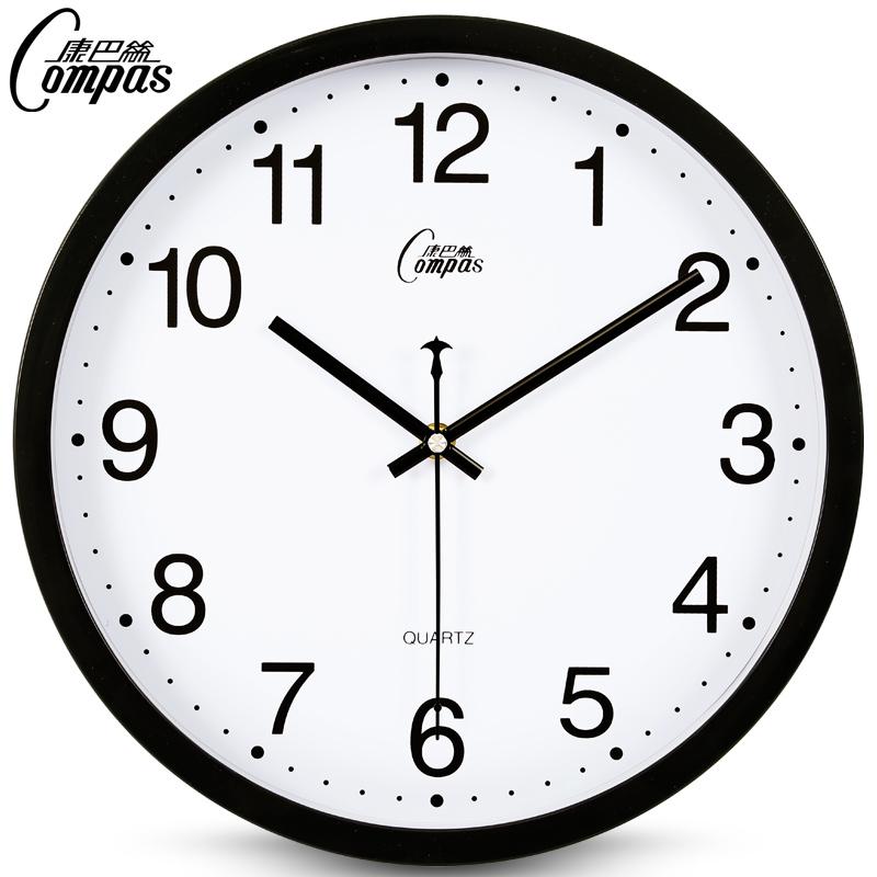 康巴丝静音挂钟现代客厅钟表时尚简约时钟创意石英钟卧室圆形挂表