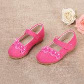 北锦缘童鞋儿童名族风布鞋女童舞蹈鞋牛筋底魔术贴单鞋复古休闲鞋