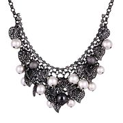 Email Korea multilayer exaggerated collar bone necklace of diamond necklace sweater chain short women retro Europe