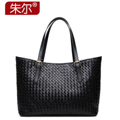 Jules lambskin woven bag fashion handbag women in Europe and America's baodan shoulder bag 2015 new solid color tote bags