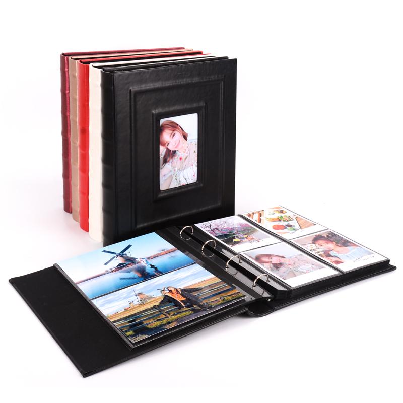 感刻6寸8寸皮革插页式相册本集竖塞手机拍摄照片影集活页加厚礼物