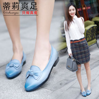 Tilly cool foot spring 2015 leather pointy bows brush off women's shoes handmade vintage 2A057942