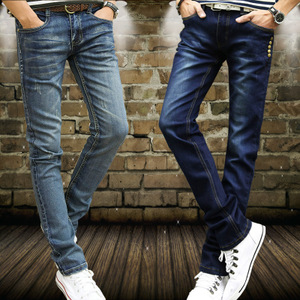 Moncayo shore young black stretch jeans Dongkuan male feet Slim trousers male pants tide male models fall