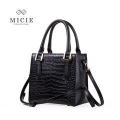Micie leather women bag 2015 new bag crocodile grain handbag in Europe and America about the first layer of leather women's shoulder bags