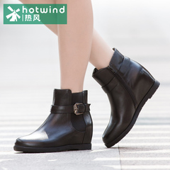 Hot winter ladies increased in England heeled biker boots side zipper short boots women boots H86W5404
