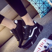 2015 winter season the Korean version of tide he plus a student cotton casual shoes sneakers women plus down the Agam shoes women's running shoe