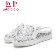 Faiccia/non fall 2015 limited authentic new counters round mesh rhinestone shoes 7802