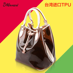 Miss twilight thoughts spring 2015 new transparent crystal jelly bag Korean women bag