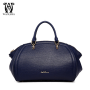 Wanlima/around 2016 new handbag leather luxury fashion Europe and dumplings in early spring handbags