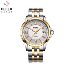 拜戈 瑞士手表原装进口手表男士全自动机械表经典商务钢带男表