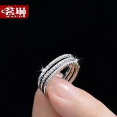 茗琳925银饰缘定三生戒指 女 韩版 时尚潮人食指饰品生日礼物