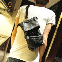 新款韩版男包 时尚百搭小胸包 单肩斜挎包 潮男小挎背包潮包