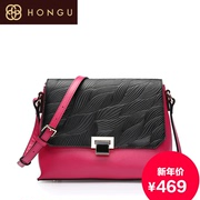 Honggu 2015 counters authentic red Valley new leaf pattern color slung fashion handbags 6278