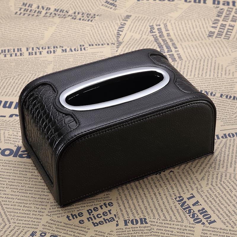 鳄鱼纹真皮车用车载纸巾盒/套汽车抽纸盒车载纸巾盒套抽纸盒创意