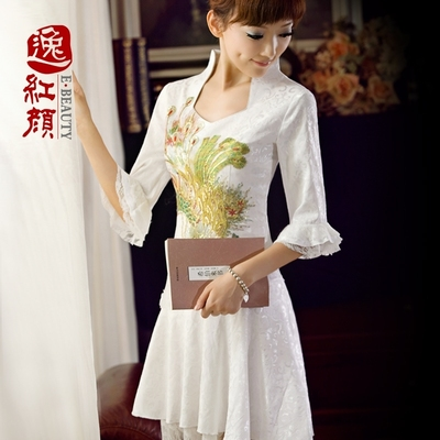 Yi roots lace cheongsam dress retro Phoenix improved daily cheongsam 2015 new spring and summer fashion